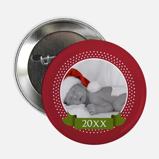 """Photo Frame with Year Red 2.25"""" Button"""