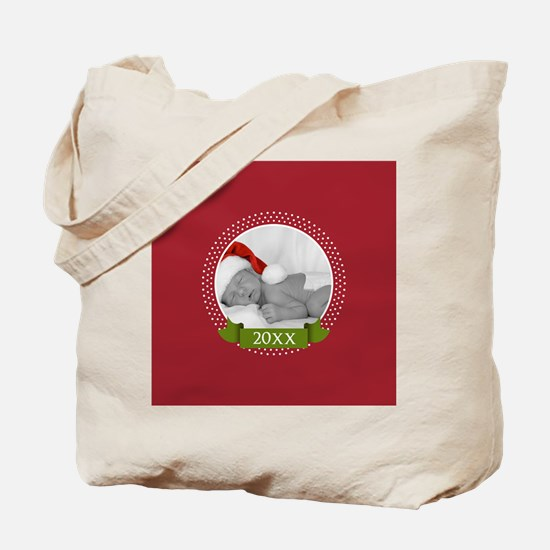 Photo Frame with Year Red Tote Bag