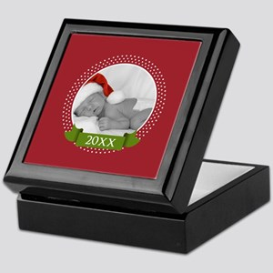 Photo Frame with Year Red Keepsake Box
