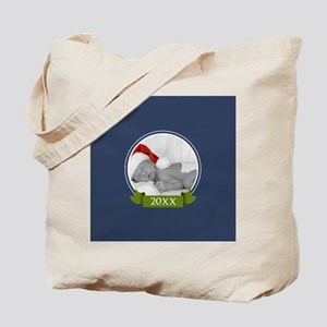 Photo Frame with Year Navy Tote Bag