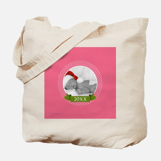 Photo Frame with Year Pink Tote Bag