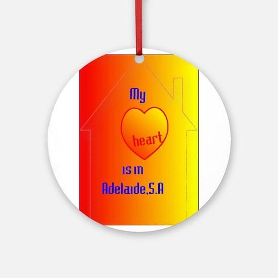 heart in Adelaide.jpg Ornament (Round)