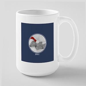 Photo Frame Year Navy Mugs