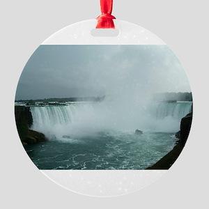 Niagara cropped Round Ornament