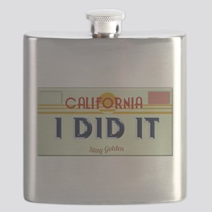 I Did It Plate Flask