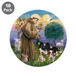 """St Francis - 4 Cavaliers 3.5"""" Button (10 pack"""