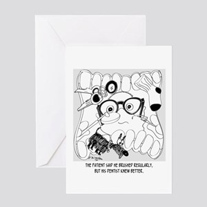 The Dental Patient Who Didn't Brush Greeting Card