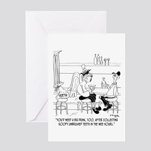 Tooth Fairy Needs a Martini Greeting Card
