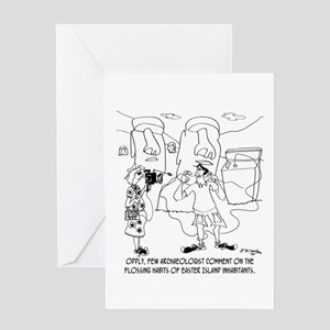 Flossing Habits of Easter Island Greeting Card