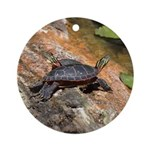 Eastern Painted Turtles Ornament (Round)