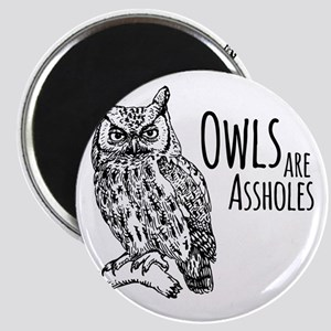 Owls Are Assholes Magnet