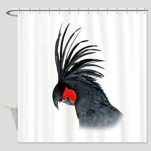 Palm Cockatoo Shower Curtain