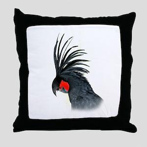 Palm Cockatoo Throw Pillow