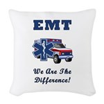 EMT We Are The Difference Woven Throw Pillow