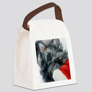 Santa ... wait! Canvas Lunch Bag