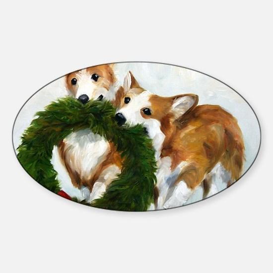 Santa's Helpers Sticker (Oval)