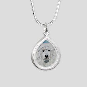 Tarheel Santa Silver Teardrop Necklace