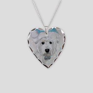 Tarheel Santa Necklace Heart Charm
