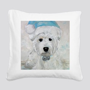 Tarheel Santa Square Canvas Pillow