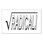 Radical - Funny Mathematics Sticker (Rectangle)