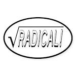 Radical - Funny Mathematics Sticker (Oval)