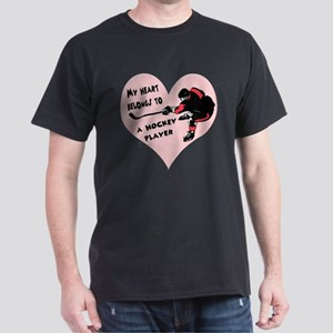 My Heart Belongs to a Hockey  Dark T-Shirt