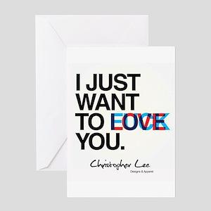 LOVE F*CK Greeting Cards