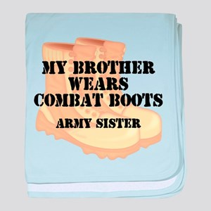 Army Sister Brother Desert Combat Boots baby blank