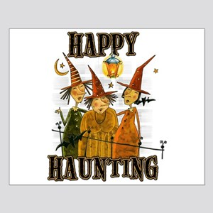 Happy Haunting 3 Witches Small Poster