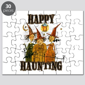 Happy Haunting 3 Witches Puzzle