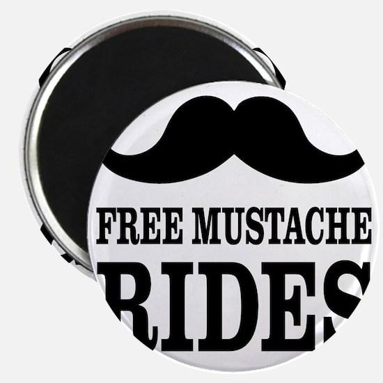 Mustache Rides Magnet