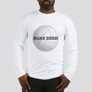 Personalized Volleyball Player Long Sleeve T-Shirt