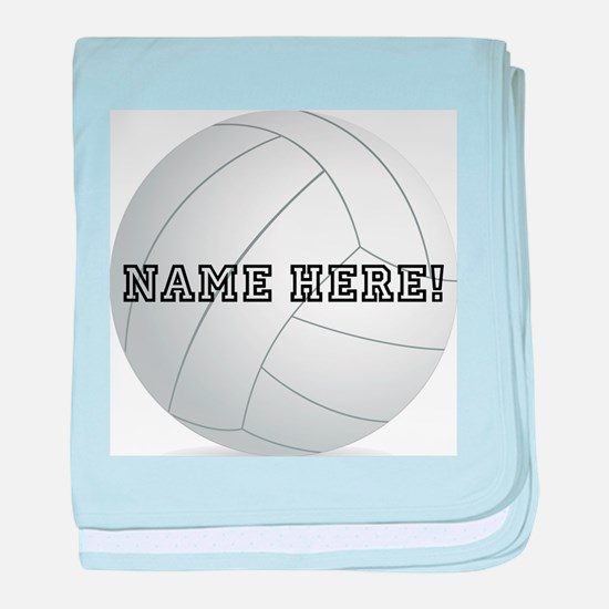 Personalized Volleyball Player baby blanket