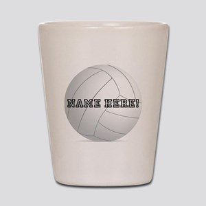 Personalized Volleyball Player Shot Glass