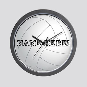 Personalized Volleyball Player Wall Clock
