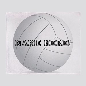 Personalized Volleyball Player Throw Blanket