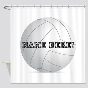 Personalized Volleyball Player Shower Curtain