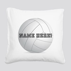 Personalized Volleyball Player Square Canvas Pillo