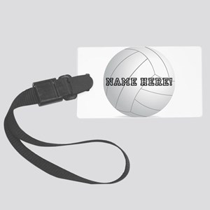 Personalized Volleyball Player Large Luggage Tag