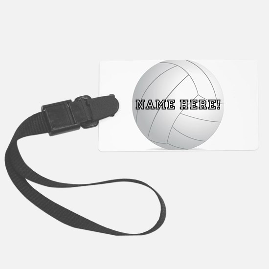 Personalized Volleyball Player Luggage Tag