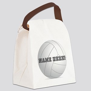 Personalized Volleyball Player Canvas Lunch Bag