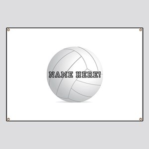 Personalized Volleyball Player Banner