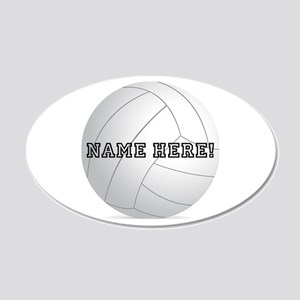 Personalized Volleyball Player 20x12 Oval Wall Dec