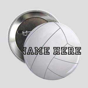 "Personalized Volleyball Player 2.25"" Button"