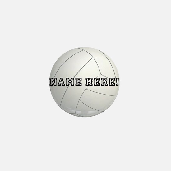 Personalized Volleyball Player Mini Button