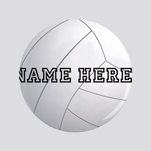 """Personalized Volleyball Player 3.5"""" Button"""