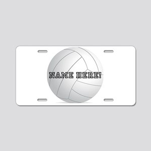 Personalized Volleyball Player Aluminum License Pl