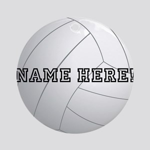 Personalized Volleyball Player Ornament (Round)