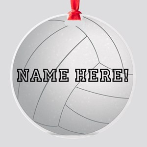 Personalized Volleyball Player Round Ornament