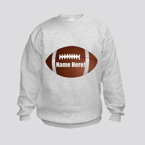Personalized Football Kids Sweatshirt